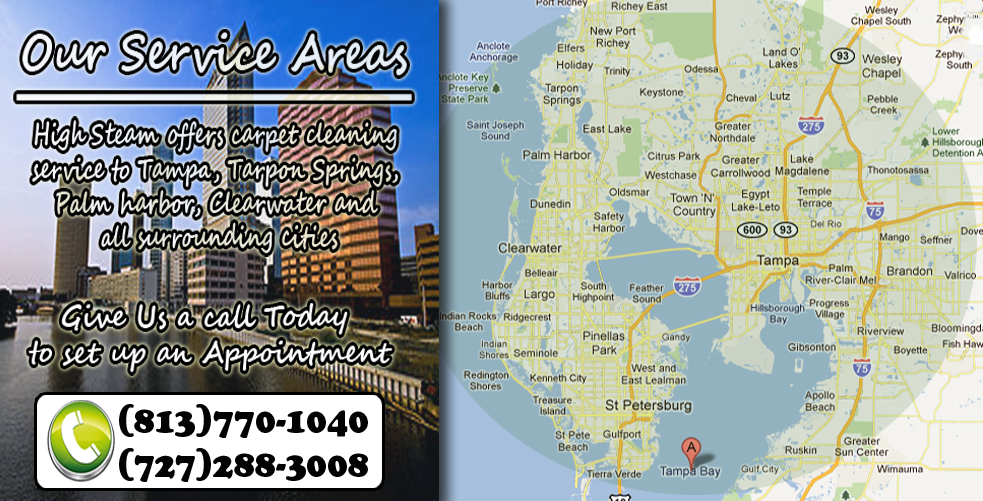 High Steam Carpet Cleaning Tampa Service Areas